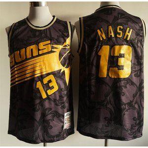 Phoenix Suns Steve Nash Black Gold Jersey